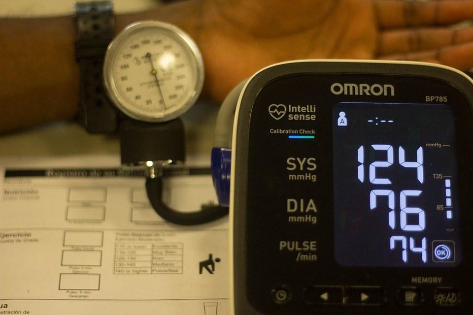 notatie van bloeddruk metingen