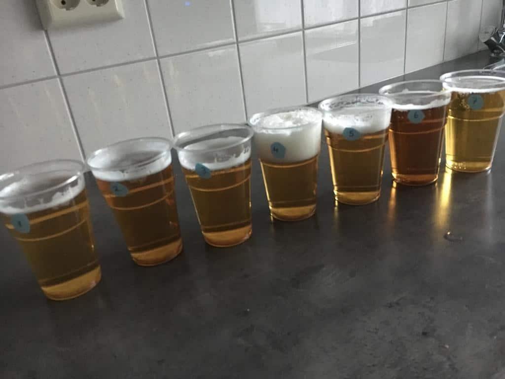 schuimkraag en geur onderzoek alcoholvrije bier