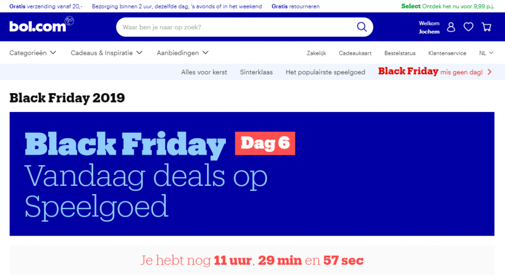 black friday kortingen bolcom
