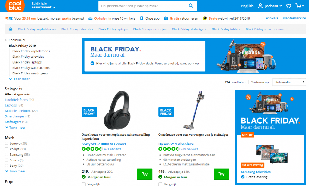 black friday kortingen coolblue